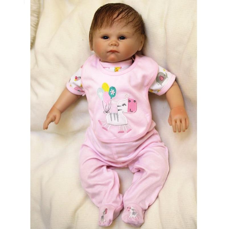 45CM Soft Vinyl Reborn Dolls Lifelike Dolls 18 Inch Reborn Babies Dolls for Sale Boneca Reborn Children Girls Toys Gift
