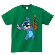 Unisex camisa Lilo dos desenhos animados T camisa Dos Miúdos t Meninos/Meninas Tshirts engraçados crianças moda de Manga Curta t-shirt do bebê bonito camiseta 3 T-8 T N