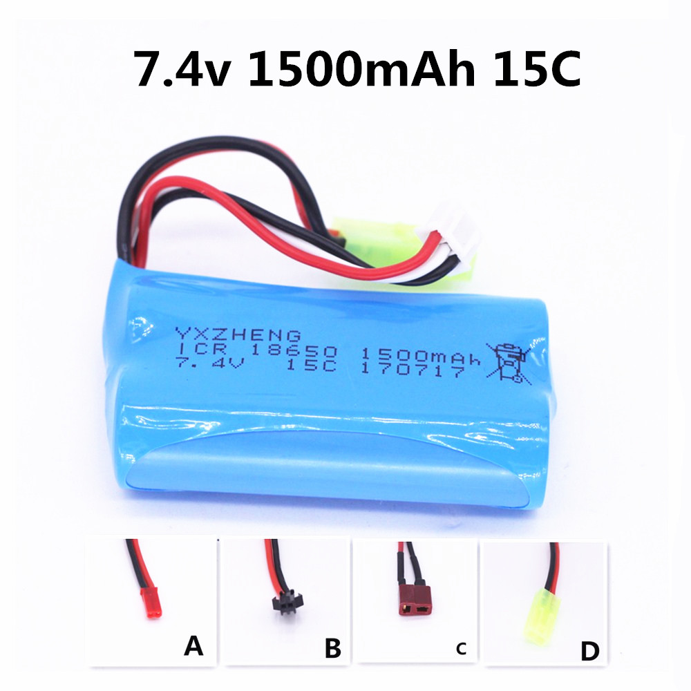 YXZHENG 7.4v 1500mah 15c battery pack for Udi U12A Syma S033g Q1 Tianke H100 FY-03 Wltoys 12428 RC Car Helicopter Drone Lipo wltoys 12428 12423 1 12 rc car spare parts 12428 0091 12428 0133 front rear diff gear differential gear complete
