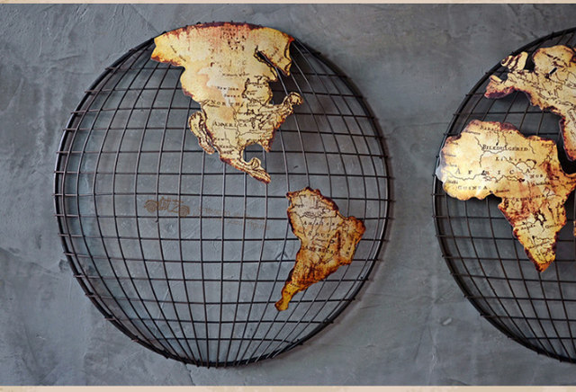 Online shop 60 cm large vintage iron metal globe world map 60 cm large vintage iron metal globe world map southern and northern hemisphere home office bar top cool retro top decor art gumiabroncs Gallery