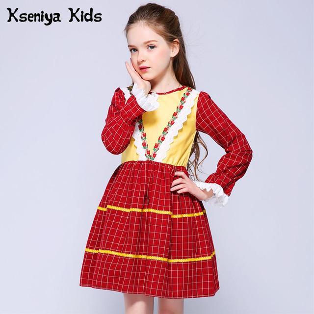 Kseniya Kids Spring Korean Princess Dress Baby Girl Clothes Girls Children Clothing Flower Girl Dresses For Weddings Lace Dress