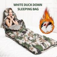 Камуфляжный компрессионный зимний спальный мешок для взрослых для мужчин и женщин гигантский хлопковый спальный мешок для кемпинга путеше