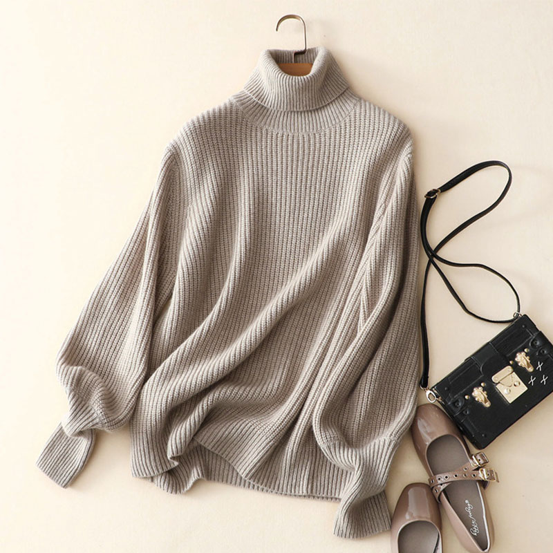 2018 Hot Turtleneck Women Sweater Cashmere Pullover 100% Cashmere Elegant Ladies Tops La ...