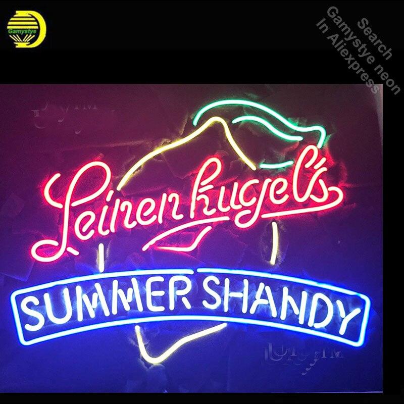 Enseigne au néon pour Leinen kugels enseigne de Tube au néon Sport été Shandy artisanat Commercial lampe de poche au néon enseigne salle de loisirs
