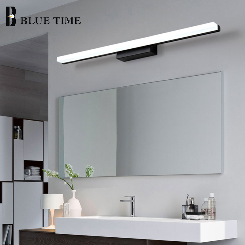 Black&Silver Acrylic Modern Led Wall Light For Bathroom Mirror Front Lights Led Wall Sconce Wall Lamp 120 <font><b>100</b></font> <font><b>80</b></font> 60cm Luminaires image