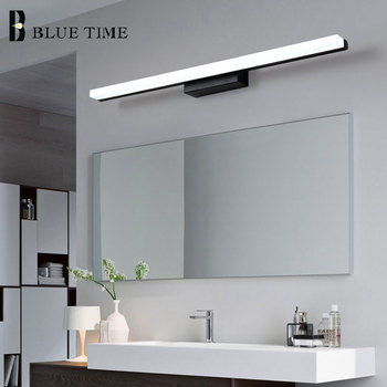 Black&Silver Acrylic Modern Led Wall Light For Bathroom Mirror Front Lights Led Wall Sconce Wall Lamp 120 100 80 60cm Luminaires black modern led wall lamp acrylic round