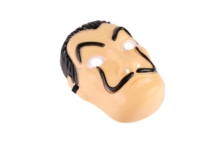 Wholesale La Casa De Papel Mask Salvador Dali Plastic Cosplay Mask Halloween Realistic Adult Party Props Masks