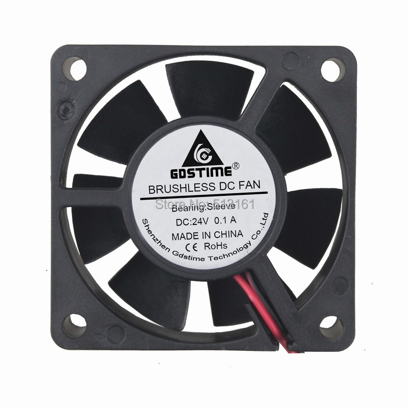 2pcs Gdstime 60mm DC 24V 12V <font><b>5V</b></font> Cooling <font><b>Fans</b></font> 2Pin Brushless USB 2PIN 3PIN 6cm 6010 for Computer PC CPU Cooler <font><b>Fan</b></font> 60x60x20MM image
