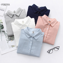 Shirt Tops Blusa Long-Sleeve Simple-Style Casual Fashion Women Blosues Ladies New Autumn