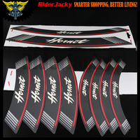 RiderJacky Motorcycle rim strips logo Stickers wheel decals for honda CB600F / CB650F Hornet 2007 2013 2008 2009 2010 2011 2012