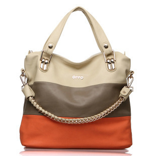 Brand OPPO 2013 Fashion Women Color Match Designers Handbags High Quality Shoulder Bag For Woman Genuine Leather Organizer Totes