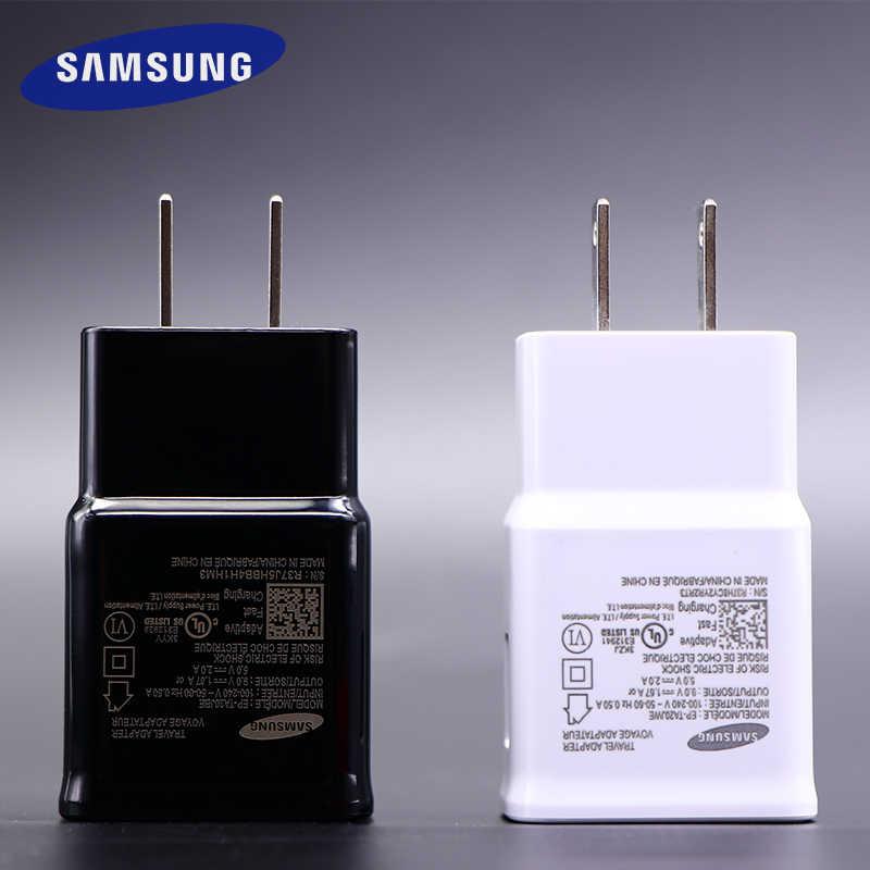 Samsung Galaxy S8 S9 plus cargador rápido 2,0 de carga rápida 9 v 9 v 1.67a y 5v2a viajes adaptador de carga S 9 s6 S7 Edge Nota 4 5 8 A 5 8 9