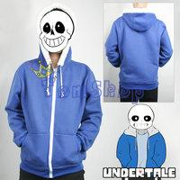 Undertale Sans Papyrus Hoodie Coat Cosplay Costumes Warm Casual Hooded Jacket Zipper Sweatshirts