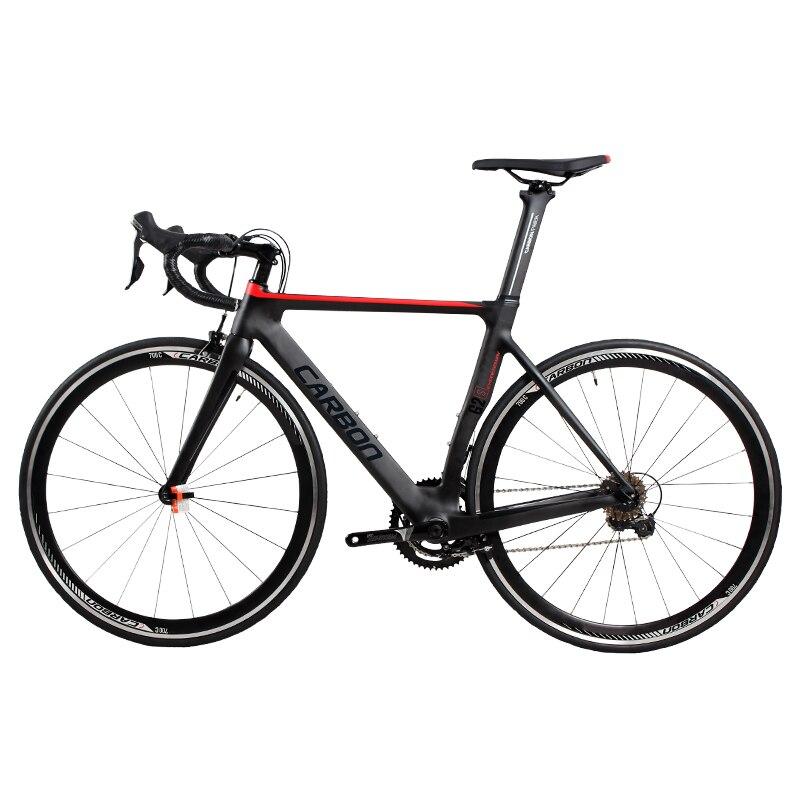 700C из углеродного волокна, шоссейный велосипед t800 Супер легкий дорожный Велосипеды уровень конкуренции 22 переменная система отслеживания скорости карбонов