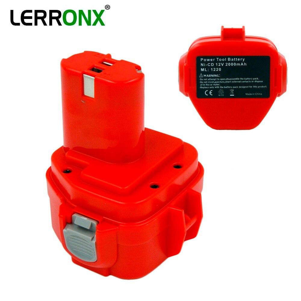 Bloco recarregável 12 v 2000 mah da bateria da ferramenta elétrica ni-cd para makita brocas bateria 1220 1222 1233 s pa12 1235b 638347-8-2 192681-5