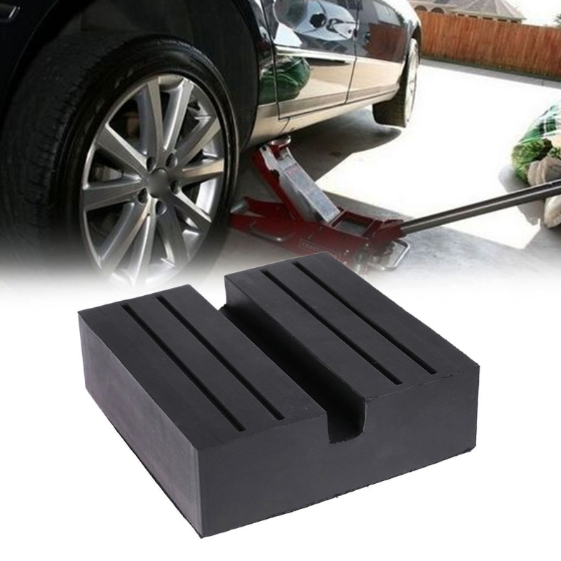 Universal Auto Car Rubber Square Slotted Frame Rail Floor Jack Guard Pad Adapter Vehicle Repair Tool High Quality