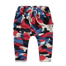 Hot Sale 2016 new spring models boys and girls fashion casual harem pants camouflage trousers Sweatpants boy girl pants pants