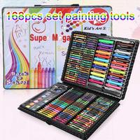 1 Set 168 Pcs Children Drawing Painting Art Set Water Color Pen Crayon Oil Pastel Paint Brush Drawing Tool Colorful Pen Gift Set