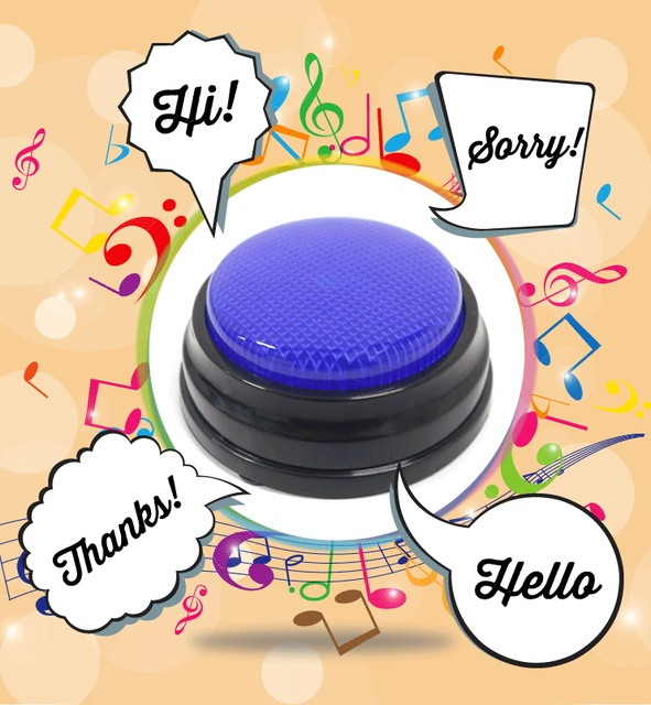 20s Voice Recordable Talking Button Sound Button Answer Buzzer with Led 1