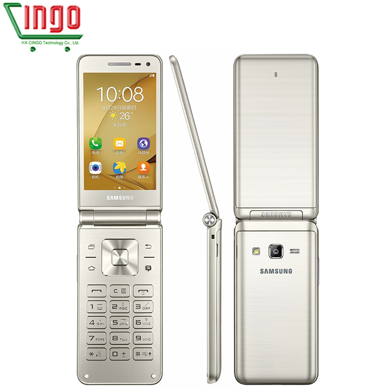 Original Samsung Galaxy Folder G1600 2016 Dual SIM LTE Cellphone Quad Core 480x800 1 4GHz 16GB