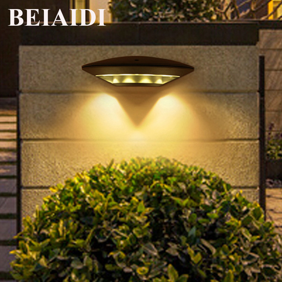 BEIAIDI 12W Waterproof Led Wall Lamp Outdoor Wall Mounting Porch Light Aluminum Villa Garden Courtyard Wall Sconces AC85 AC265V|Outdoor Wall Lamps| |  - title=