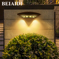 BEIAIDI 12W Waterproof Led Wall Lamp Outdoor Wall Mounting Porch Light Aluminum Villa Garden Courtyard Wall Sconces AC85 AC265V