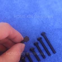 M4*6/8/10/12/15/20/25/30/35/40 black 1pcs Hexagonal nylon Screws plastic Insulation bolts brand new PC/board DIY hobby screw