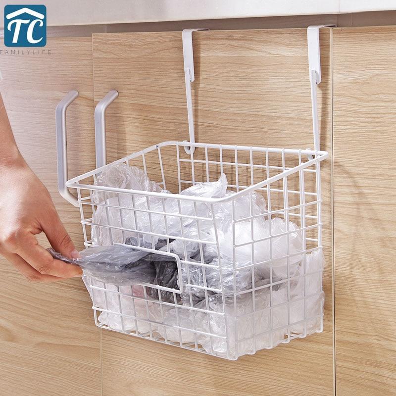 japanese style iron art storage basket kitchen no hole