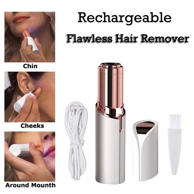 Draagbare USB Oplaadbare Elektrische Pijnloos Ontharing Voor Body Facial Depilator Lippenstift Nek Been Scheren Hair Remover Tool