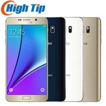Разблокирована оригинальный Samsung Galaxy Note 5 N920 N920P/v/4 ГБ Оперативная память 32 ГБ Встроенная память android smart Телефон 5.7 «дюймовый 16MP 4 г Восстановленное Телефон