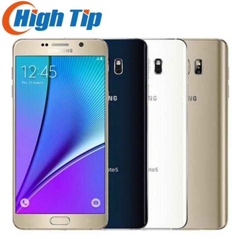"Unlocked Original Samsung galaxy Note 5 N920 N920P/V/A 4GB RAM 32GB ROM Android Smart Phone 5.7""inch 16MP 4G refurbished phone"