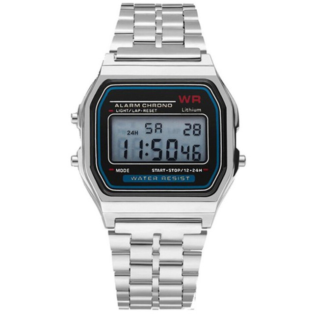 2019 Marca De Luxo mens Relógios Eletrônica Digital LED Relógio Militar Homens Moda Casual Vestido de Ouro Relógios de Pulso Relojes