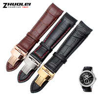 curved end men's watchband straps for BL9002-37 05A BT0001-12E 01A brand watch genuine leather with butterfly buckle 20 21 22mm