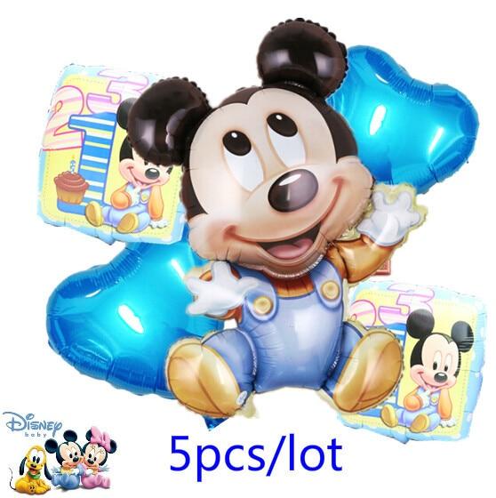 5pcs Big Mickey Mouse Party Supplies Balon Helium Mickey