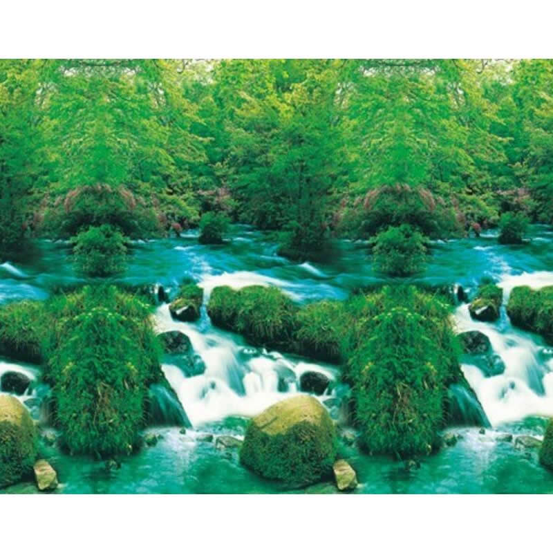 """9022 23.3"""" x 60"""" Fish Tank Background Double Sided Green"""