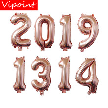 VIPOINT PARTY 32inch rose gold number foil balloons wedding event christmas halloween festival birthday party HY-180