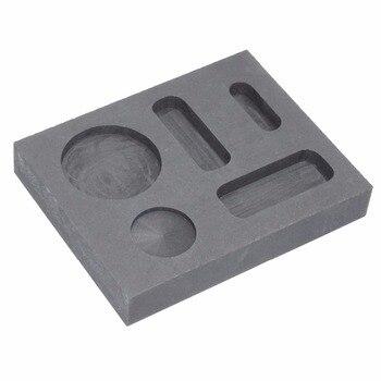 Molde de lingote de grafito de oro de alta pureza Combo de monedas de crisol 1/4 oz 1/2 oz 1 oz para fundir joyas de Metal de refinación de fundición