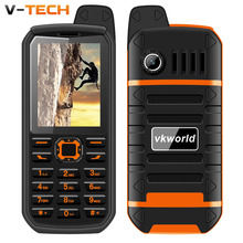 Vkworld Stone V3 plus IP54 waterproof bluetooth 2.0 powerbank flashlight  wireless FM 3.5mm earphone jack rugged mobile phone