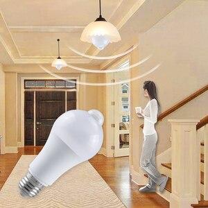 Image 1 - Lâmpada de emergência da luz do sensor de movimento de pir com luz noturna do sensor de movimento 85 265v b22 e27 luz do sensor do corredor da escada conduziu lamparas