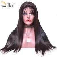 Doozy предварительно сорвал натуральных волос парики человеческих волос 130% 150% плотность Реми бразильские волосы парик