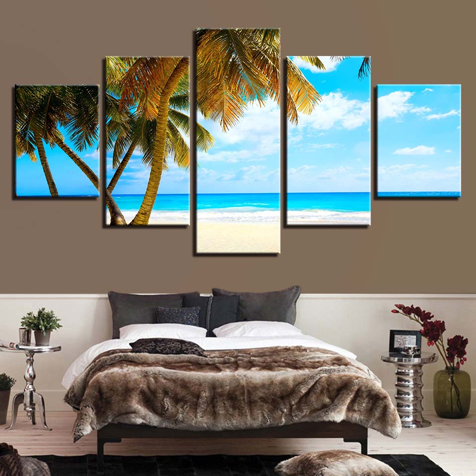 Home Decoration Canvas Painting HD Prints 5 Pieces Tree Wall Art Landscape Modular Pictures Bedside Background Artwork Poster