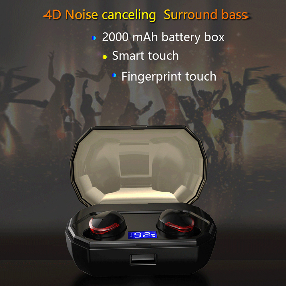Mini Bluetooth Wireless Earphone TWS Touch Control IPX8 Waterproof Earphones HiFi Stereo Bluetooth Headset with Charging Box in Bluetooth Earphones Headphones from Consumer Electronics