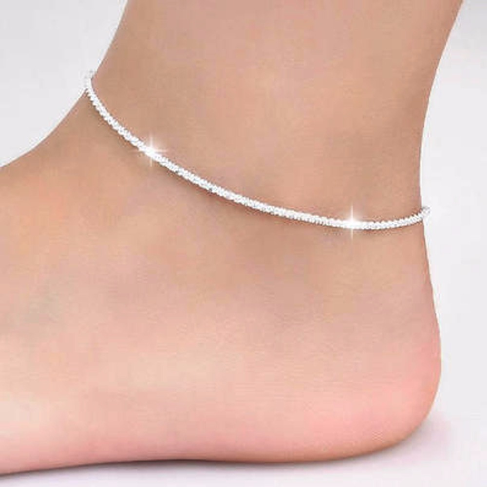 Charming Simple Foot Bracelet Bride Anklet Jewelry For Women Thin Shiny Summer Jewelry ZK40 bracelet