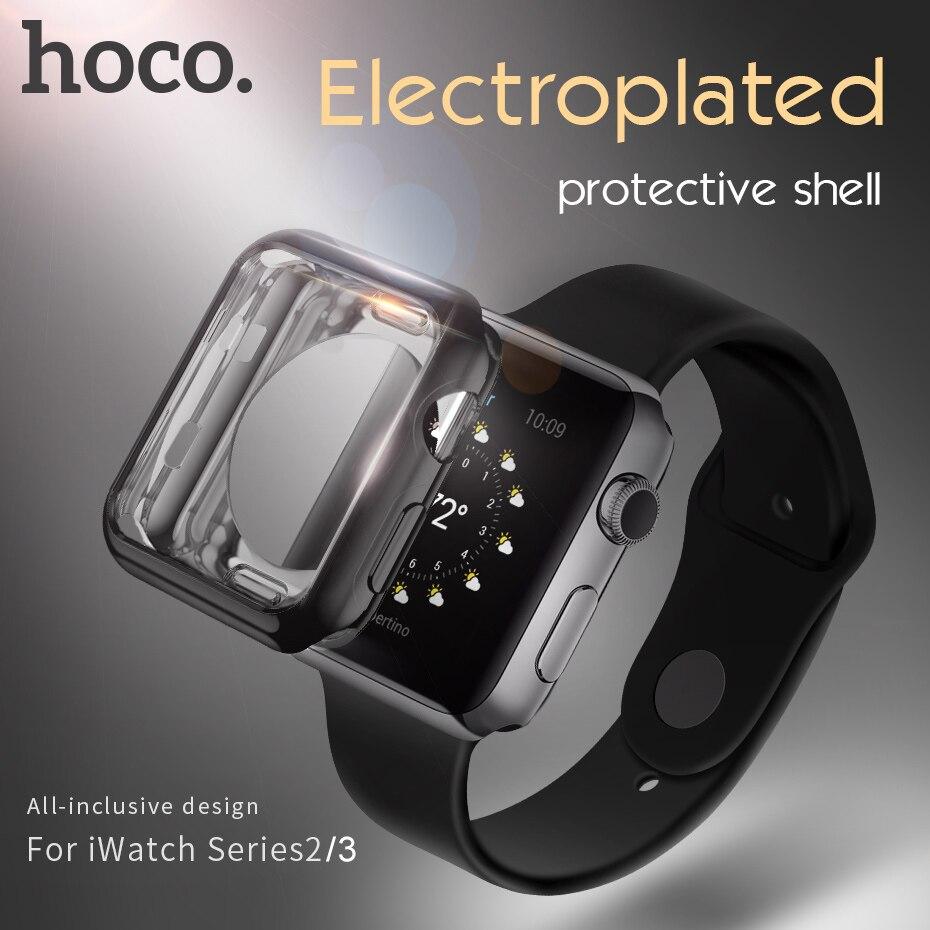 HOCO Stilvolle Weichen schutzhülle für iwatch serise 3 2 Apple uhr Bunte abdeckung shell 38mm 42mm perfekt 4 farbe stoßstange