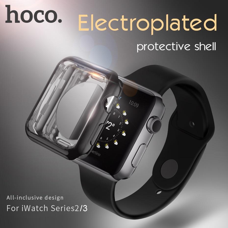 "HOCO מארז מגן רך מסוגנן עבור iwatch serise 4 3 2 Apple Watch כיסוי צבעוני 38 מ""מ 42 מ""מ 40 מ""מ 44 מ""מ התאמה מושלמת"