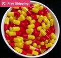 0 #1 #2 #1000 pcs/lot. vermelho-amarelo cor de gelatina dura cápsulas vazias, cápsulas de gelatina vazias, unidas ou separadas cápsulas