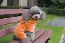 2016 Cute Pet Dog Warm Puppy Cartoon Clothes Jumpsuit Hoodie Garfield pattern Coat Apparel Puppy Clothes four legs