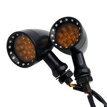 2 unids/set indicadores universales de la señal de giro de la motocicleta 12LED 12 V luz de la lámpara