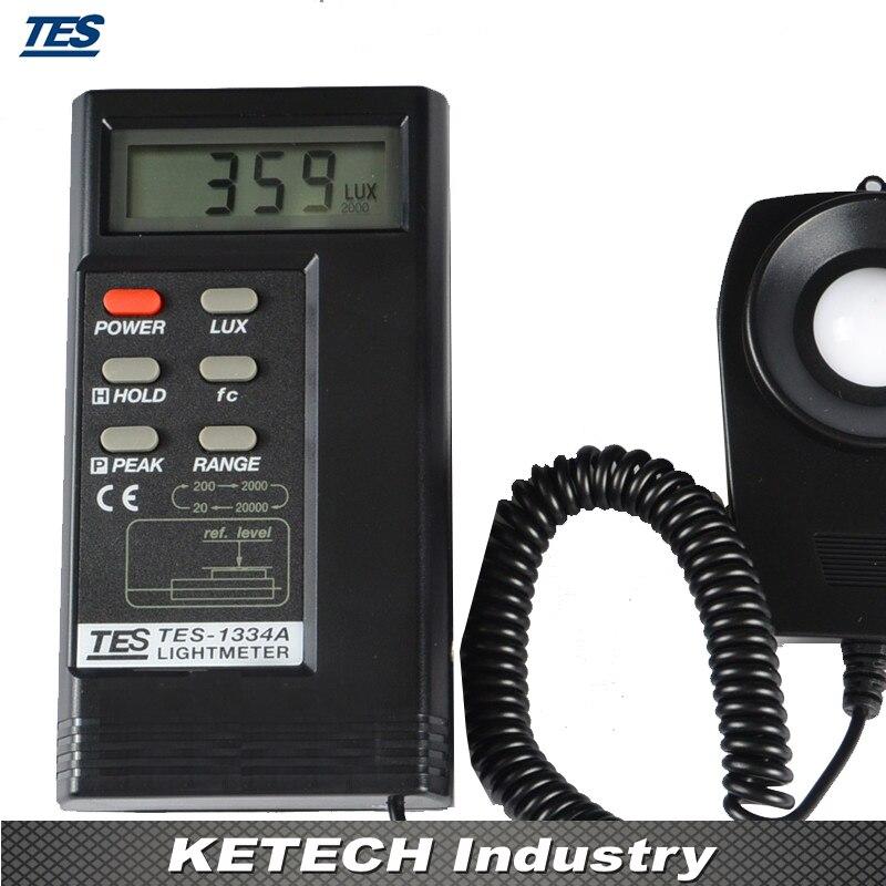 Digital Light Lux Meter TES-1334A (Lux,Fc Function) bside elm02 professional digital light meter lux fc light meter