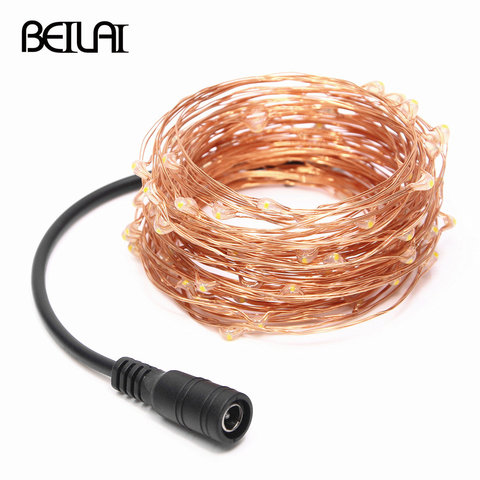 10M 20M 30M 40M 50M LED String Light Fairy DC12V Copper Wire For Party Christmas Wedding Holiday Decoration Garland Pakistan